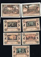 7x Notgeld STÜTZERBACH Thüringen 2x 75 Pf + 5x 50 Pf  1921 top