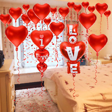 Foil Balloons Love Heart Shape Helium Wedding Birthday Party Decoration Approx