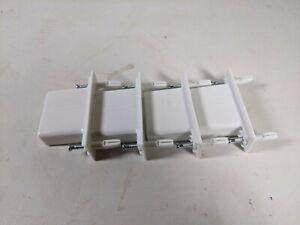 4 pcs New Rubbermaid ClosetMaid Wall End Wire Shelf Bracket 3D32 L7-3D32-F2-WHT