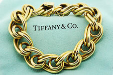 """Tiffany & Co. 18k Yellow Gold Large Link Chain Bracelet 8"""""""