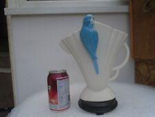 Lovely large vintage Sylvac jug/vase with awesome blue budgie  UNUSUAL VASE