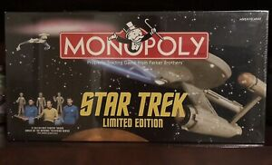 MONOPOLY BOARD GAMES NEW SEALED STAR TREK LIMITED EDITION