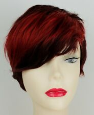New Wine Red Short Synthetic Fibre Heat Resistant Wig Halloween Cosplay 243