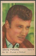 JOHNNY HALLYDAY 1963 Vtg Dutch Gum Trading Card Serie A no 33 Printed in Holland