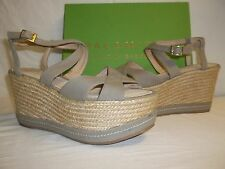 Palomitas By Paloma Barcelo EU 39 US 8.5 Taupe Canvas Wedges New Womens Shoes