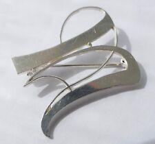 """KORDES & LICHTENFELS Brosche Buchstabe """" U """" 800 Silber Vintage 80er brooch"""
