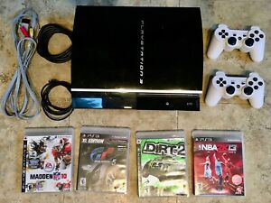 Sony PlayStation 3 PS3 Original Fat Console 2 Controllers 4 Video Games Bundle