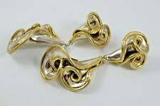 David Varsano Electroform Large Sterling Silver & Gold Vermeil Clip-On Earrings