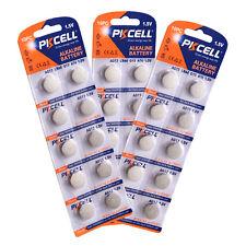 30 PCS PKCELL 1.5V AG13 LR44 G13 A76 Coin Button Cell Alkaline Battery
