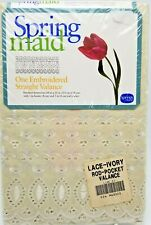 Ivory Floral Embroidered Eyelet Valance 84x15 Cottage Chic Springmaid