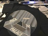 PALACE SKATEBOARDS FW16 TRI CURTAIN LARGE NAVY BLUE T-SHIRT TEE L TRI FERG