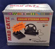 MAD CATZ RACING STEERING WHEEL TRUE ANALOG & PEDALS PLAYSTATION PS1