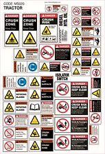 Machinery Sticker Sets For Tractor 36 Assorted Decals MS020