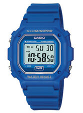 Casio Men's Quartz Illuminator 7-Year Battery Blue Resin 43mm Watch F108WH-2A