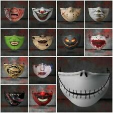 Halloween Face Mask Funny Scary Fashion Washable Reusable Face Covers Horror UK