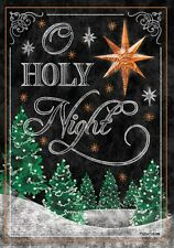 "Christmas Tree Star Bright O Holy Night House Flag Large 40"" x 28"""