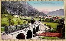 Postkarte - MITTENWALD-BAHN Mittenwald-Viadukt mit Mittenwald (920m)