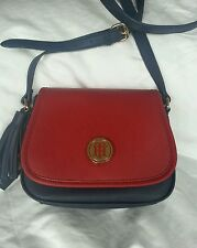 Tommy Hilfiger Womens Cross body Handbags Purse navy/red with logo NWT