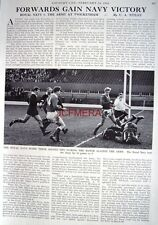 """NAVY v. THE ARMY AT TWICKENHAM RUGBY"" - 1966 Magazine Article (1-Sided Cutting)"