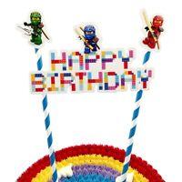 Lego Ninjago Happy Birthday Cake Topper