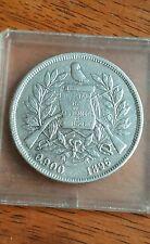 Rare 1896 Guatemala Un Peso .900 silver
