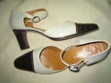 $395 RALPH LAUREN HANDCRAFTED LEATHER SHOES IVORY CALF BROWN CROC 9.5 ITALY