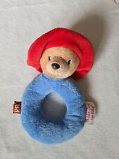 Paddington Bear Ring Rattle Soft Plush Baby Toy - Suitable From Birth