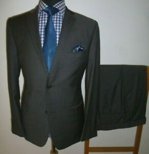Mens TED BAKER Suit Endurance Cypress 42 S Grey Wool Jacket Trousers W 36 L 29