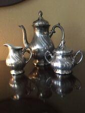 Silver Plated Tea Set Over Porcelain Set of 3 WMF 0351,0301,1301