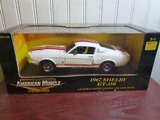 Ertl American Muscle 1967 Ford Mustang Shelby GT-350 1:18 Diecast Car White/Red
