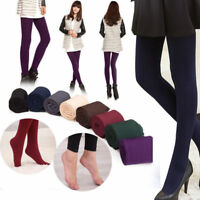 Women's Winter Thick Warm Leggings Stockings Skinny Pants Footless Slim Stretch