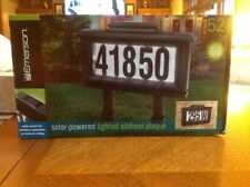 Emerson ,solar Powered Lighted Address Plaque