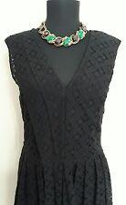 Alfani Women's Black Lace Formal Knee Length Dress Size Small 6/8 Ribbon Belt
