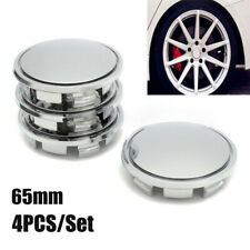 4pcs 65mm Chrome Wheel Hubs Center Hub Cap Universal Wheel Rim Hub Cover Caps