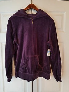 SJB ACTIVE JCPENNEY WINDSOR PURPLE LADIES SIZE LARGE HOODED JACKET (NEW)