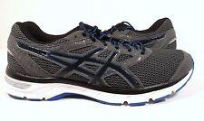 ASICS Men's Gel-Excite 4 Running Shoe Carbon/Black/Electric Blue Size 9.5