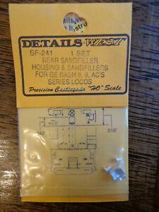 Details West HO #241 Sand Filler Hatches pkg(4) -- GE Dash 8, 9 & AC Series-Set