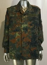 German Flecktarn Camo Field Shirt Military surplus size 21inches/27.5 inches