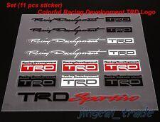 Set (11 pcs) Color Racing Development TRD Logo Car Sticker Decal Emblem Toyota