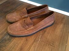 Genuine Leather Brown Tan Dress Shoe Loafer Borelli Shoes Sz. 11 M