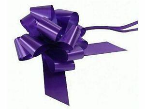 Pull Bows Ribbon Purple x 3 - 50mm wide - Florist Ribbon
