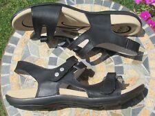 Abeo Leather Walking Sandals, Women Sz 8.5 Narrow.  Black