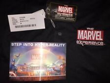 MARVEL COMICS THE MARVEL EXPERIENCE TMX BLACK POLO SHIRT MEDIUM NEW W/ POSTCARD