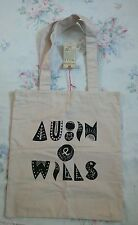 BNWT Large Limited Ed Aubin & Wills Strong Cotton Canvas Shoulder Tote Bag M