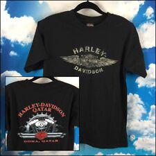 Harley Davidson Tshirt Doha Qatar Motor Gear Graphic Back Mens M