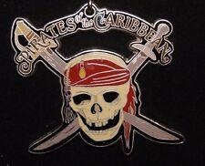 Disney Dlr Lanyard & Medal 2006 Pirates of the Caribbean Skull Htf Rare