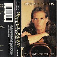 MICHAEL BOLTON Time, Love & Tenderness WITH LYRICS INSERT  Cassette,1991) VG+