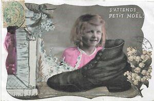 CPA/FANTAISIE--Fillette Noel Chaussure
