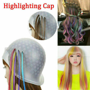Magicap Reusable Hair Coloring Highlightning Rubber Cap Streaking with Hook New