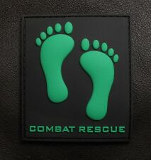 PVC RUBBER GREEN FEET PJ USAF PARA RESCUE PEDROS FOOT VELCRO® BRAND FASTEN PATCH